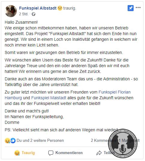 Funkspiel Albstadt - Abschied